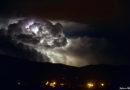 Cellule orageuse au Sud de La Réunion, le 14 janvier 2020